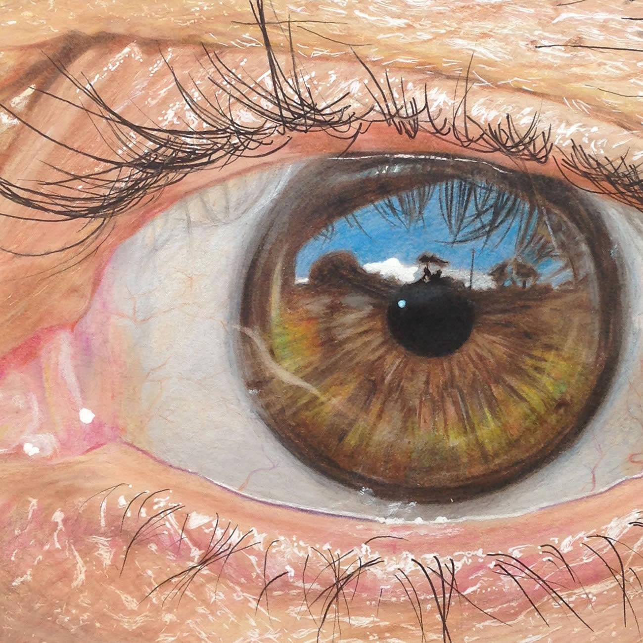 Hiperreal Kuru Boya Göz Çizimleri-3