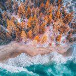 Enerji ve Yaşam Dolu Manzaraların Havadan Görüntüleri