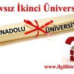 Sınavsız İkinci Üniversite