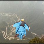 Wingsuit Flying in Tianmenshan