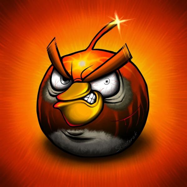 Siyah Kızgın Kuş - Black Angry Bird