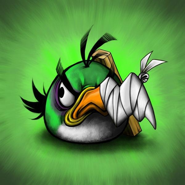 Yeşil Kızgın kuş - Green Angry Bird