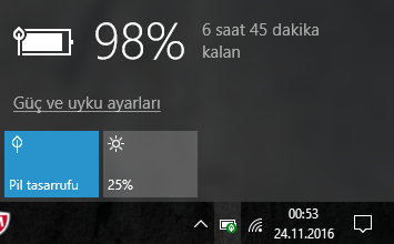 Windows 10 Pil Simgesi